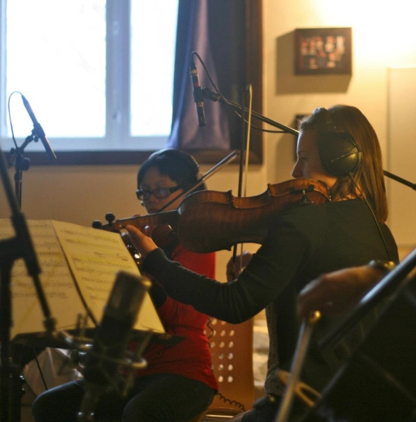 Recording for Lynsey Berry's EP