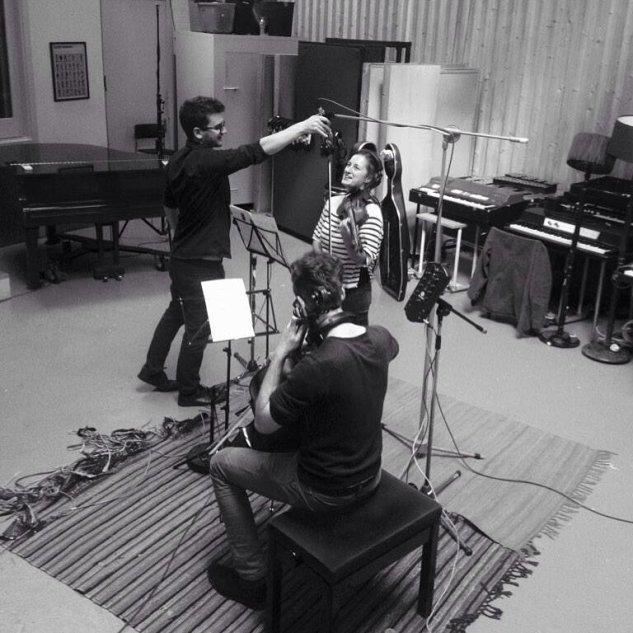 Recording for Nick Liam in Miloco Studios